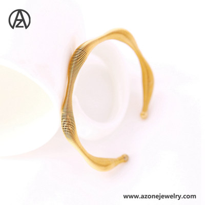 316l stainless steel gold bangle