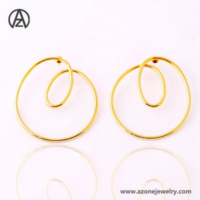 316l stainless steel gold earring