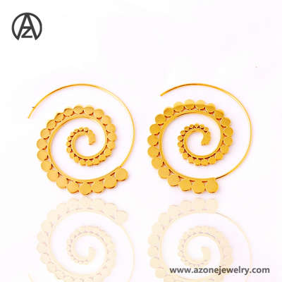 simple gold earring designs for women