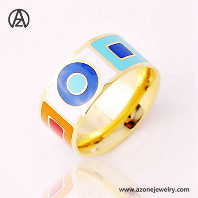 enamel ring stainless steel women