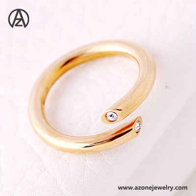 stainless steel stone vintage ring for women